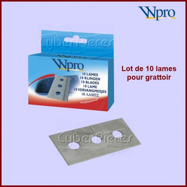 Lames pour grattoir vitrocéramique WPRO