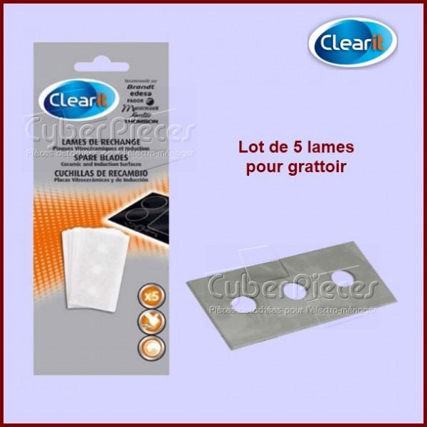 Lames pour grattoir vitrocéramique Clearit