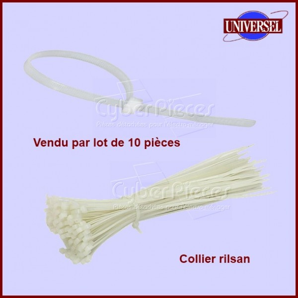 Lot de 10 Colliers RILSAN 2,5/3 X 100 mm