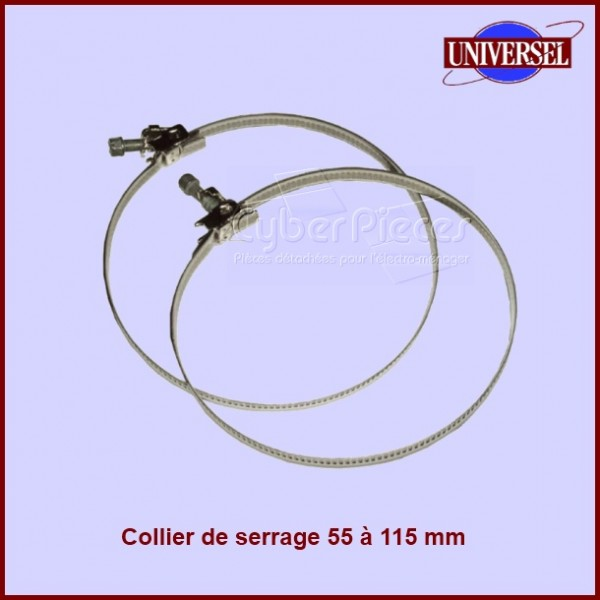 Lot de 2 colliers 55 à 115 mm