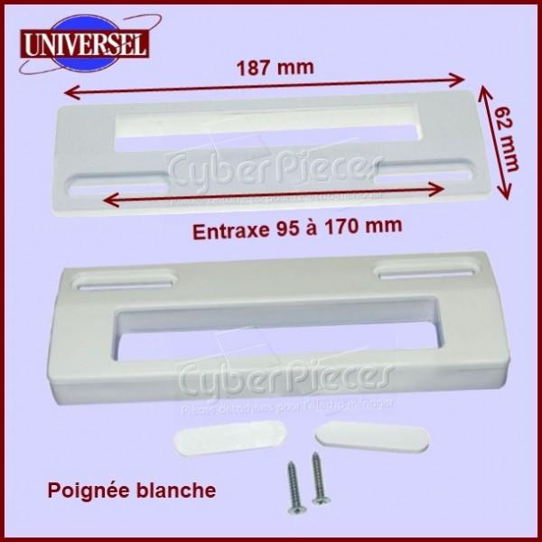 Poignée blanche universelle 187 x 62 mm