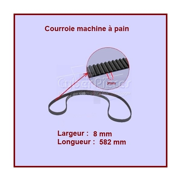 Courroie 582mm machine à pain SS-188290