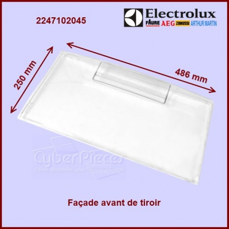 Façade avant de tiroir Electrolux 2247102045