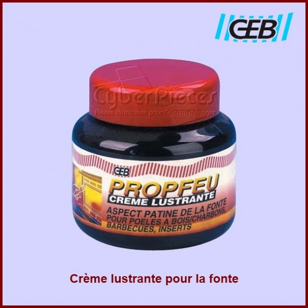 Crème lustrante pour plaque électrique en fonte