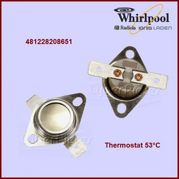 Thermostat 53°C - Whirlpool 481228208651