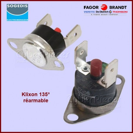 Thermostat réarmable 135° Brandt 76X4155