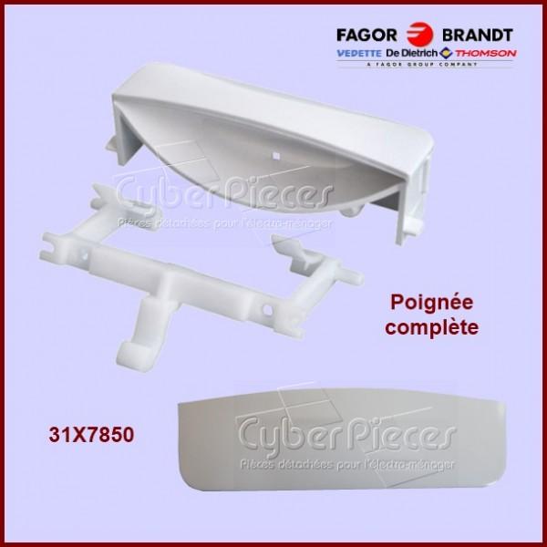Poignée blanche avec ressort Brandt 31X7850