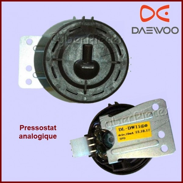 pressostat analogique daewoo 3614825300 pour machine a laver lavage pieces detachees electromenager. Black Bedroom Furniture Sets. Home Design Ideas