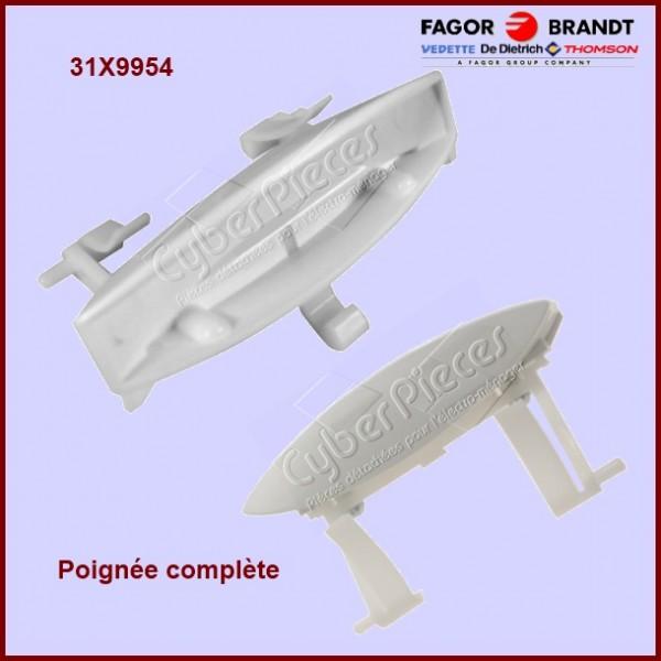 Poignée blanche avec ressort Brandt 31X9954
