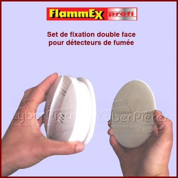 Fixation double face Ø 72 mm pour détecteurs de fumée