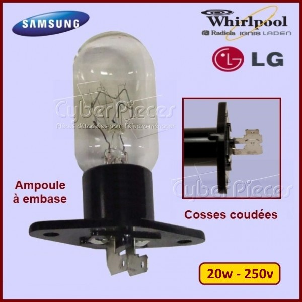 Ampoule 20W - Embase avec cosses coudées