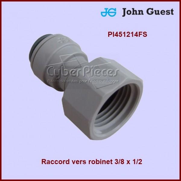 Raccord vers robinet 3/8 x 1/2 JG-PI451214FS