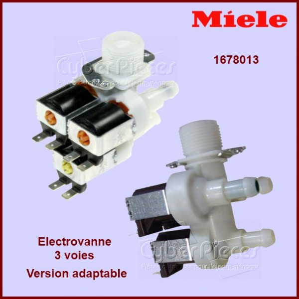 Electro-vanne Triple 90° Ø12 version adaptable Miele 1678013