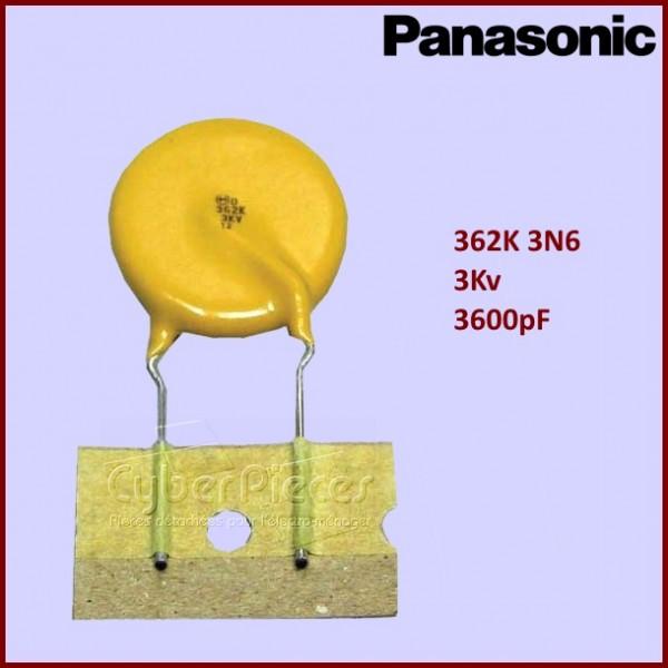 Condensateur ECKK3F362KDU 362K - 3KV  Panasonic