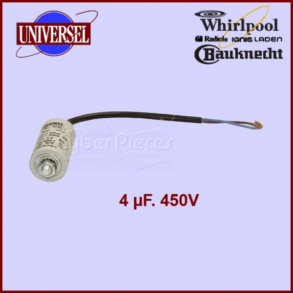 Condensateur 4.0µF (4.0MF) 450 Volts