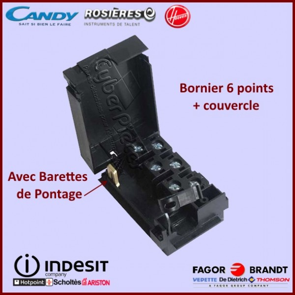 Bornier 6 Points + Capot Noir C00136759