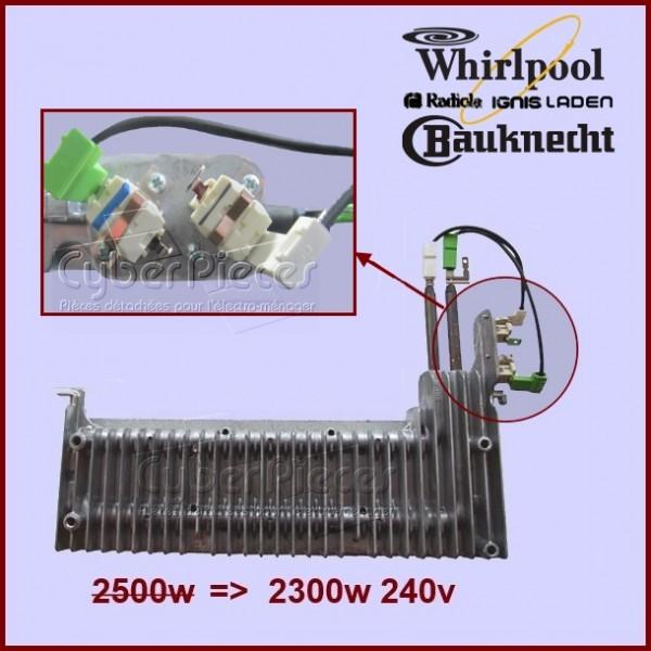 Résistance 2500W Whirlpool 481231028307