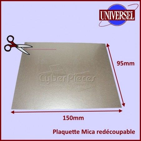Plaquette Mica 150 x 95 mm à découper selon la forme d'origine