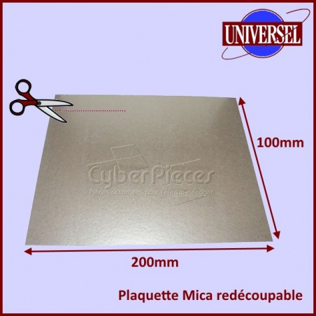 Plaquette Mica 200 x 100 mm à découper selon la forme d'origine