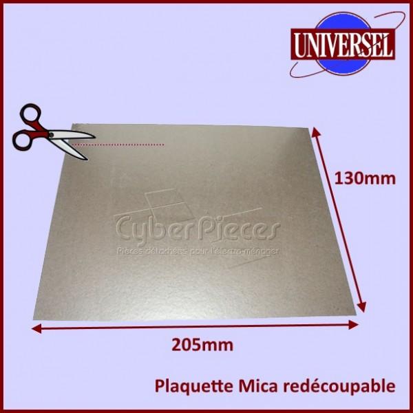 Plaquette Mica 205 x 130 mm à découper selon la forme d'origine