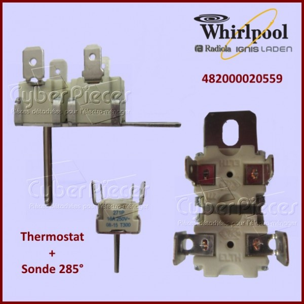 Thermostat + sonde 285° Whirlpool 482000020559