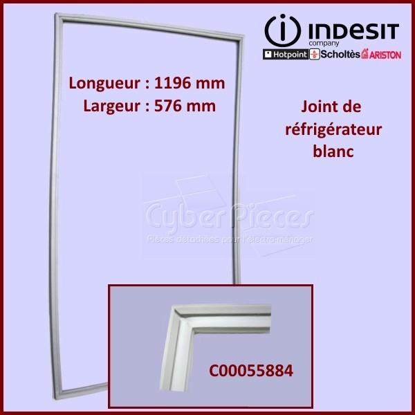 Joint blanc de porte de réfrigérateur Indesit C00055884