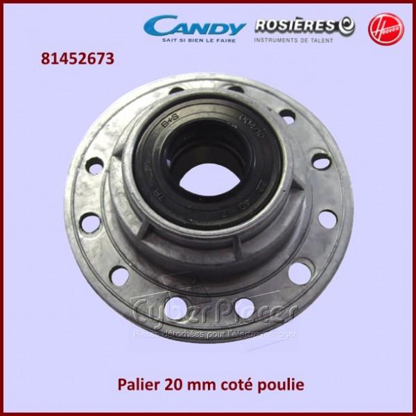 Palier axe 20 mm coté poulie Candy 81452673