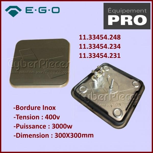 Plaque Restaurant 300X300 3000w 400v E.G.O 11.33454.248
