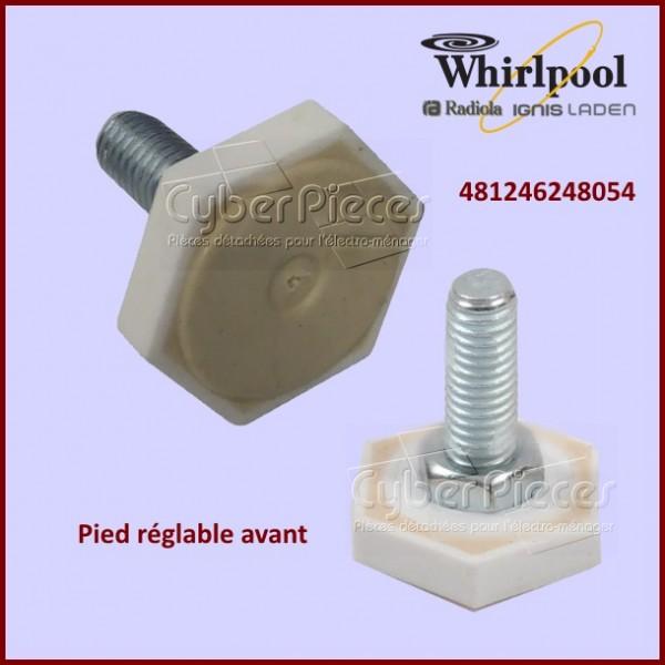 Pied avant réglable Whirlpool 481246248054