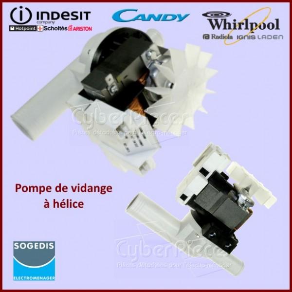 Pompe de vidange avec hélice Indesit C00029803