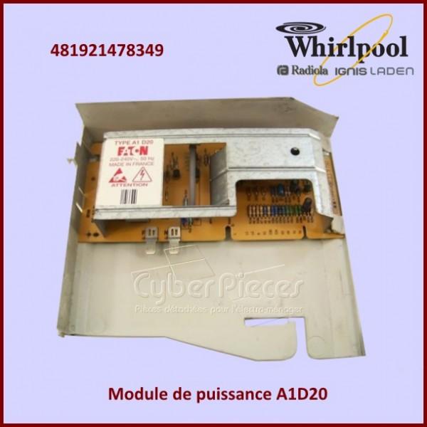 Module de puissance A1D20 Whirlpool 481921478349