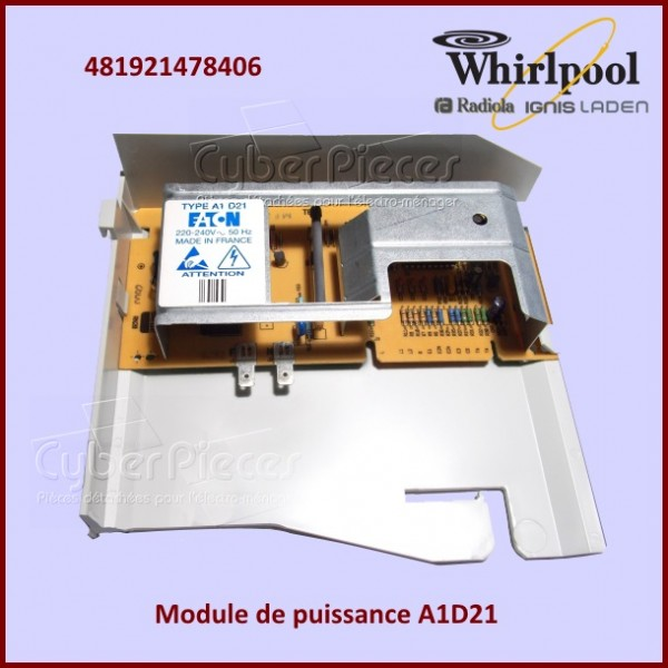 Module de puissance A1D21 Whirlpool 481921478406