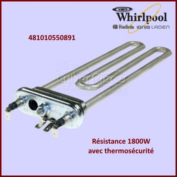 Résistance 1800W avec thermosécurité Whirlpool 481010550891