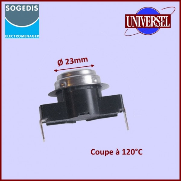 Thermostat 2 Cosses NC 120° SILTAL 13764
