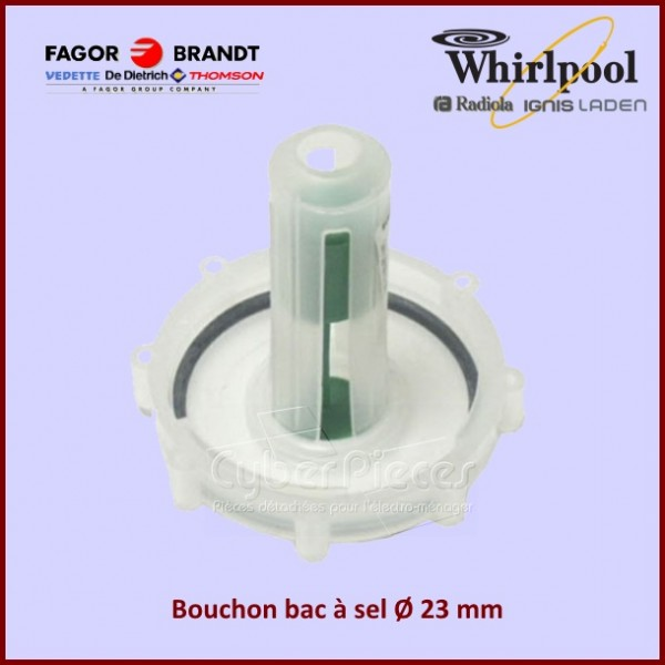 Bouchon du bac à sel Whirlpool 481946278576