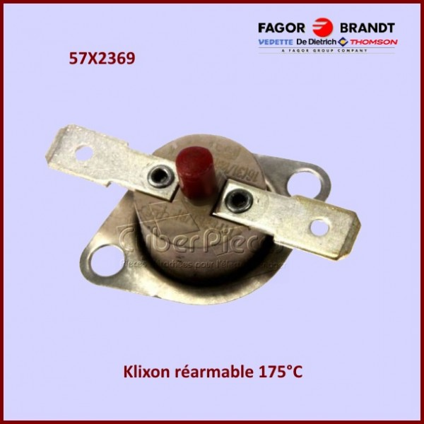 Thermostat réarmable 175°C Brandt 57X2369