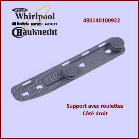 Support avec roulettes Whirlpool 480140100922