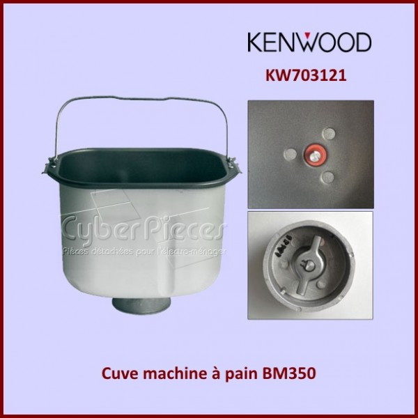 cuve machine pain bm350 kenwood kw703121 pour machine. Black Bedroom Furniture Sets. Home Design Ideas