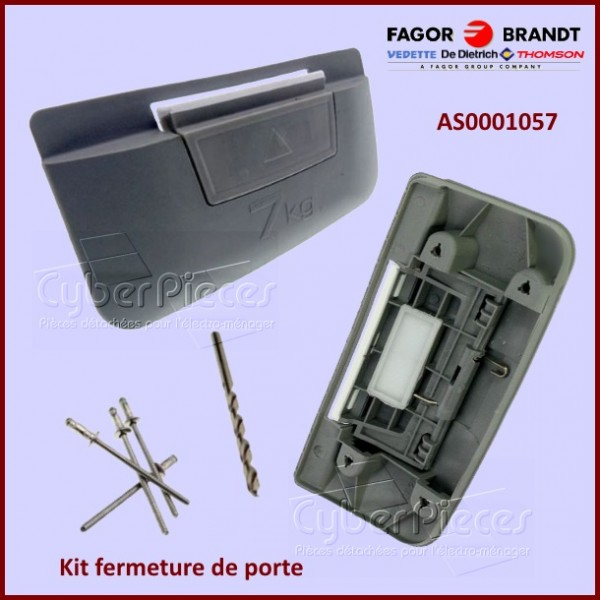 Kit de fermeture de porte tambour brandt as0001057 for Porte tambour