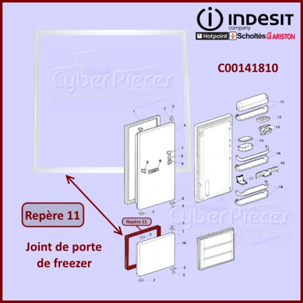 Joint de Porte freezer Indesit C00141810