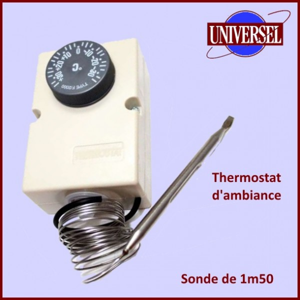 thermostat d 39 ambiance 35 35 avec sonde 6mm pour chambre froide pour thermostats. Black Bedroom Furniture Sets. Home Design Ideas