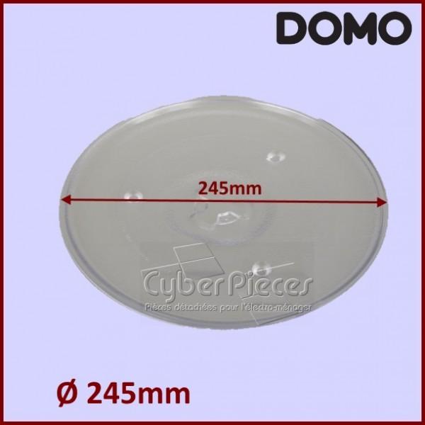 Plateau tournant micro ondes 24 5 cm do232337 domo pour - Micro ondes sans plateau tournant ...
