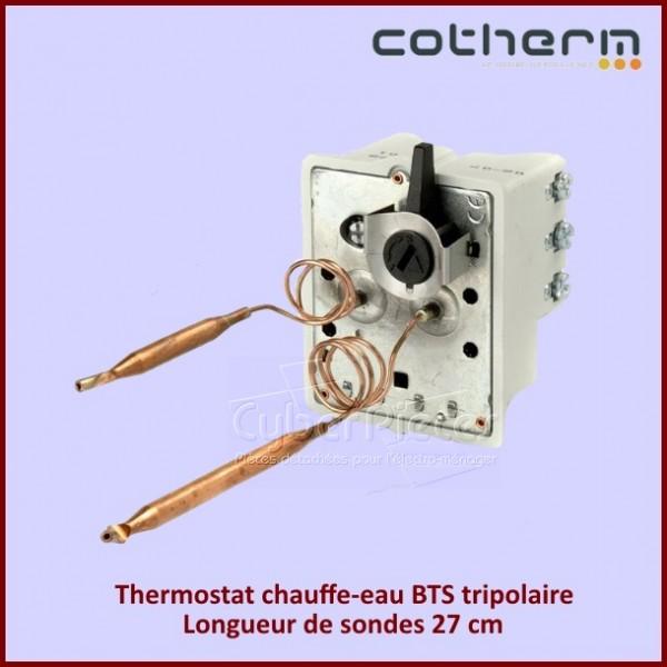 Thermostat chauffe-eau Cotherm BTS Tripolaire 15 A - 380V - Sondes L.27CM