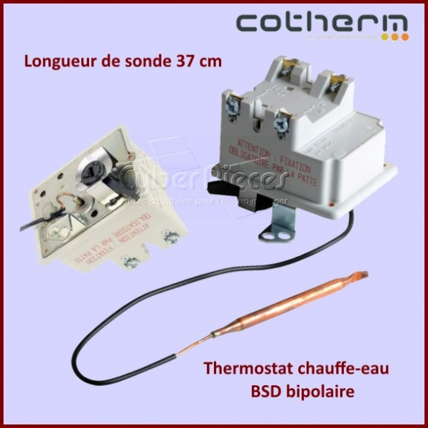 thermostat chauffe eau cotherm bsd bipolaire sondes pour chauffe eau chauffage pieces. Black Bedroom Furniture Sets. Home Design Ideas