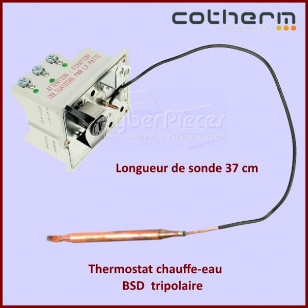 Thermostat chauffe-eau Cotherm BSD Tripolaire - Sondes L.37CM