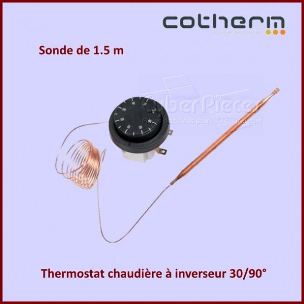 Thermostat chaudière COTHERM à inverseur 30/90°  Sonde L.1,5M