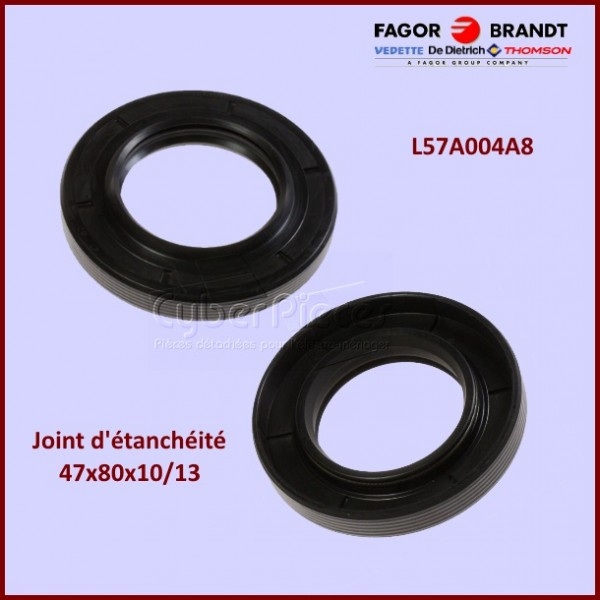 Joint d 39 tanch it brandt l57a004a8 pour joint d axes machine a laver lavage pieces detachees - Joint d etancheite concave ...