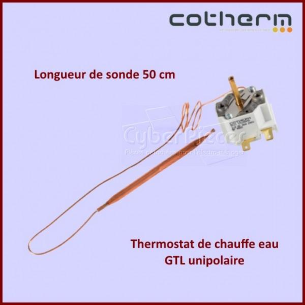Thermostat chauffe-eau Cotherm GTLH0046 Unipolaire - Sonde L.50CM