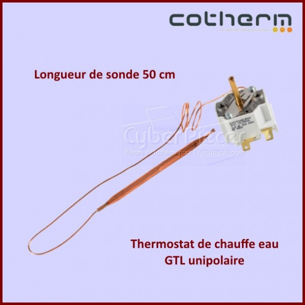 thermostat chauffe eau cotherm gtlh0046 unipolaire sonde. Black Bedroom Furniture Sets. Home Design Ideas