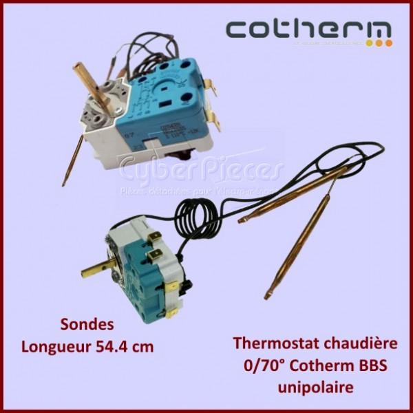 Thermostat chaudière 0/70° Cotherm BBS unipolaire - Sondes L.54.4 cm
